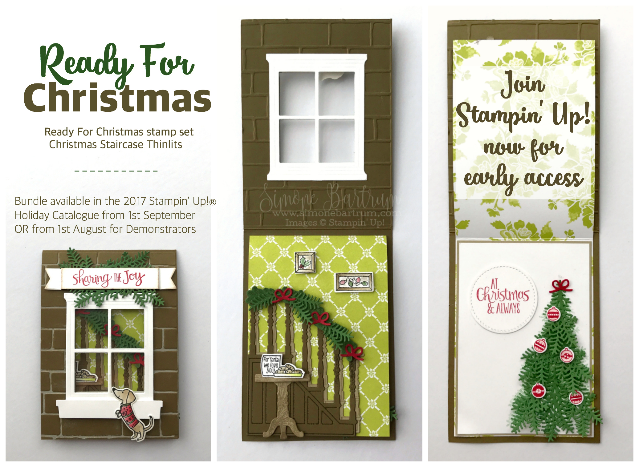 Ready for Christmas Staircase - Stampin\' Up! Holiday Catalogue