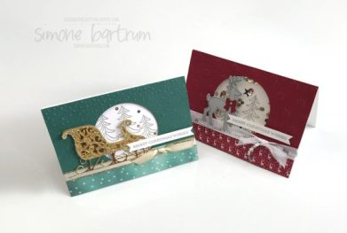 Santa's Sleigh by Stampin' Up! (www.simonebartrum.com)