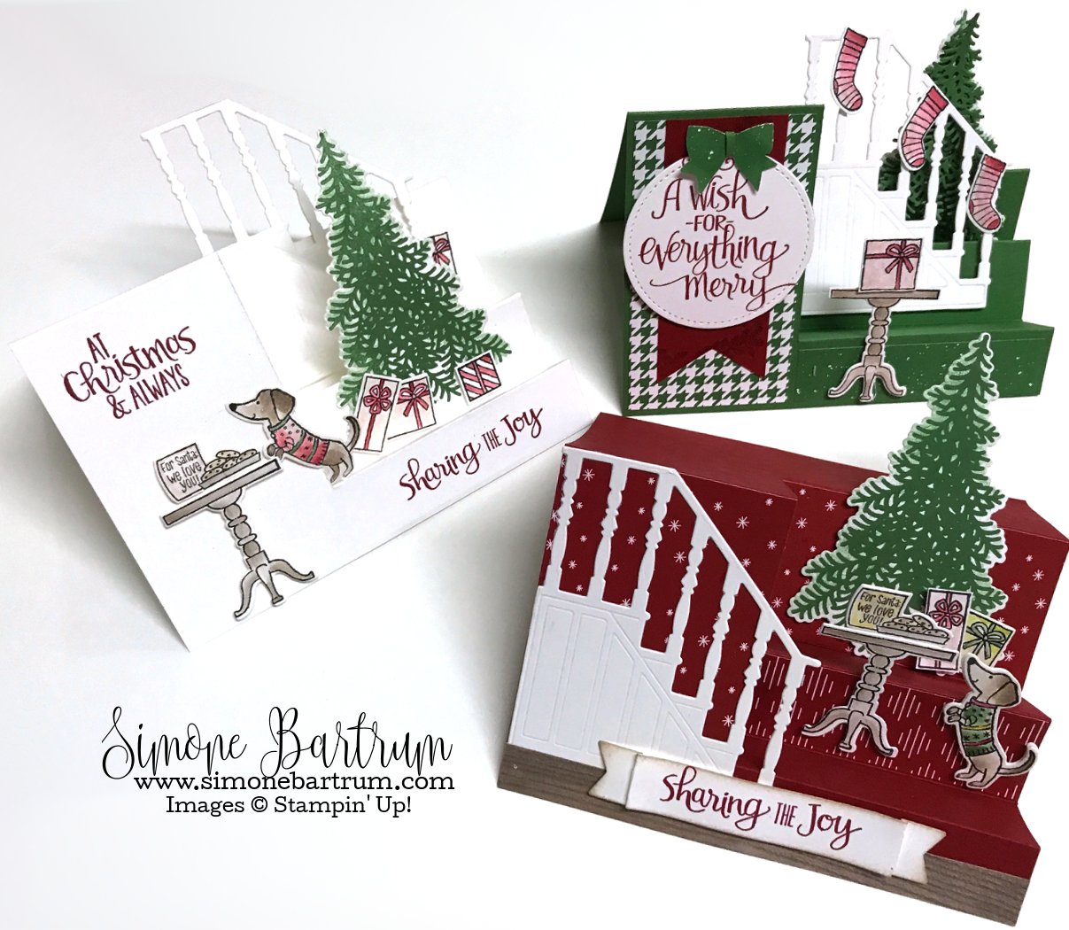 Stampin\' Up! Ready for Christmas - Stair Step Staircase Cards