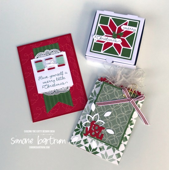 Stampin' Up!'s Quilted Christmas. Projects created by Simone Bartrum.