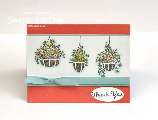 Hanging Garden card from www.simonebartrum.com. Products from Stampin' Up!.