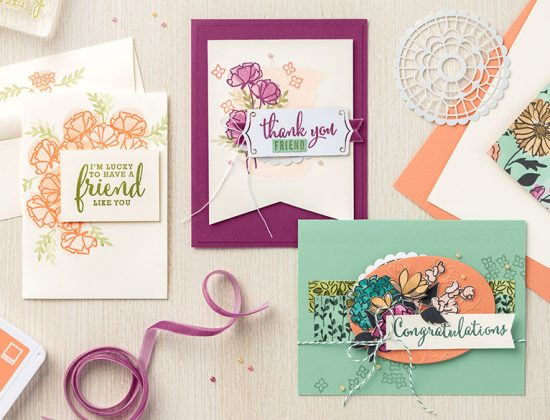 The gorgeous new Share What You Love product suite from Stampin' Up!. Available from May 2018.