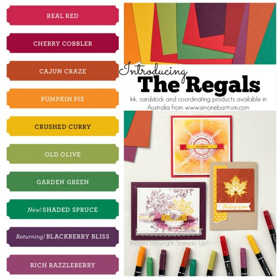 Stampin' Up! Colour Revamp - The Regals