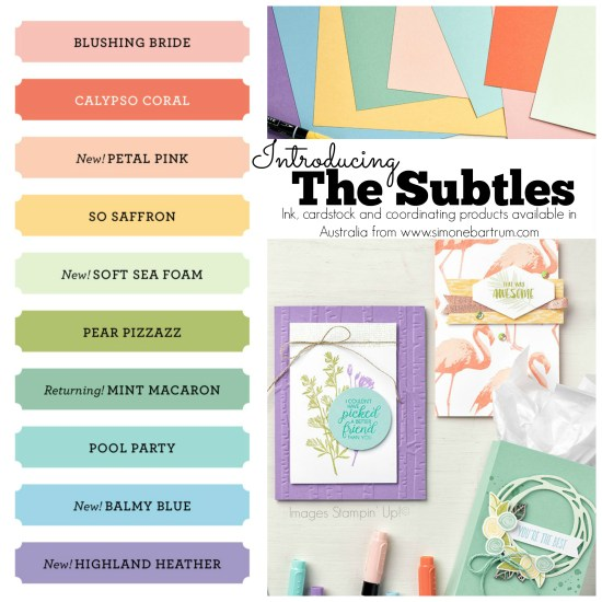 Stampin' Up! Colour Revamp - The Subtles