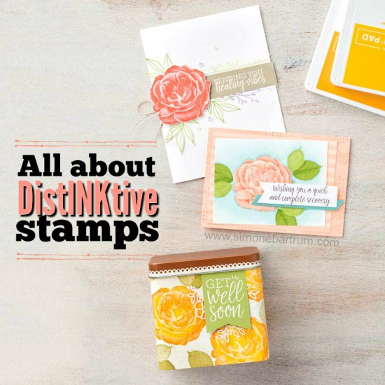 All about distinktive stamps - patent pending process by Stampin' Up!