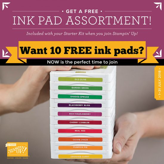 Now is the perfect time to join Stampin' Up! - Get 10 ink pads for free
