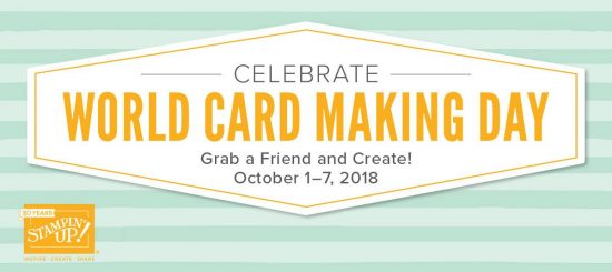 Stampin' Up! sale for World Card Making Day 2018