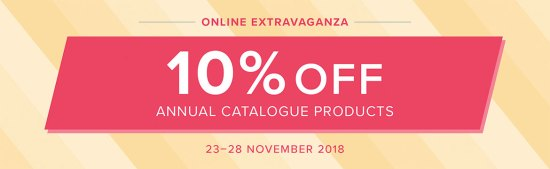 Stampin' Up!'s Online Extravaganza: 10% nearly every product