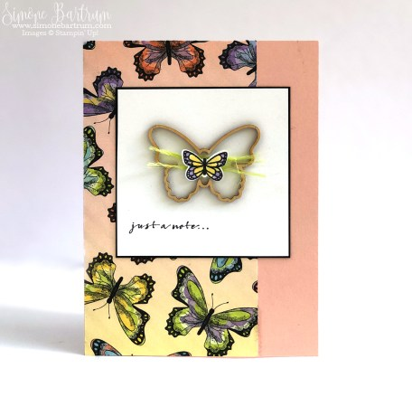 Card featuring Stampin' Up!'s butterfly elements and Botanical Butterfly paper