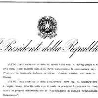 Riconoscimento della Personalità Giuridica dell'Aikikai d'Italia