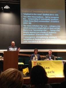 Matt Hills giving his talk