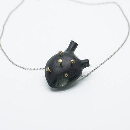 Black heart pendant