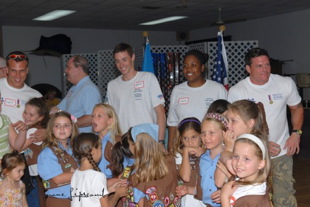 Girl Scouts welcoming wounded veterans to Key Largo, FL