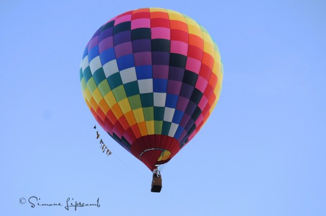 Hot air ballon at Foley Festival