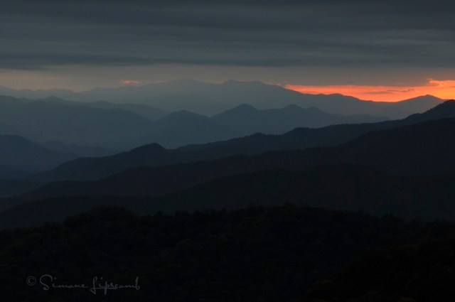 View from Blue Ridge Parkway near Cherokee, NC