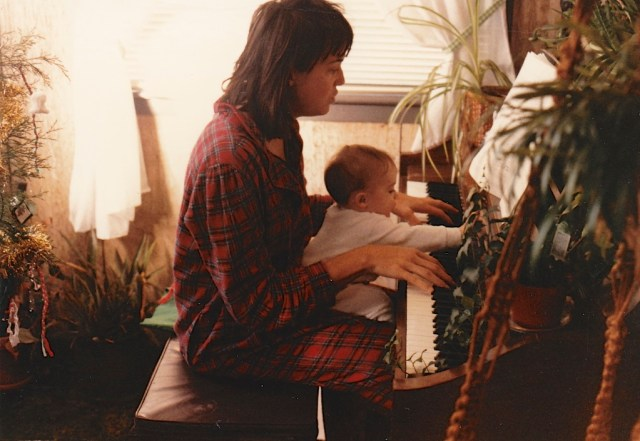 When I was pregnant I played piano to Emily and she would kick. I continued the practice after she arrived....