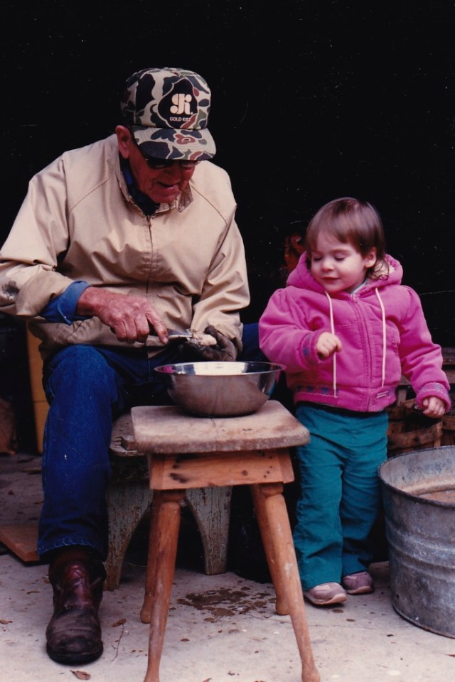 Granddad and my daughter Emily...1986