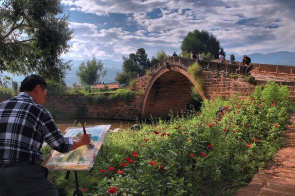 Un pittore nel villaggio di Shaxi