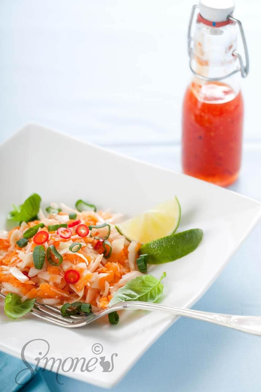 Vietnamese wortelsalade met chili | simoneskitchen.nl