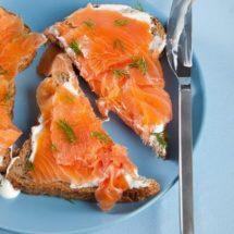 Zalm sandwich met zure room | simoneskitchen.nl