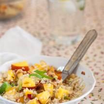 Quinoa salade met nectarine | simoneskitchen.nl