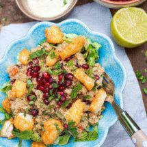 Amaranth salade met halloumi | simoneskitchen.nl