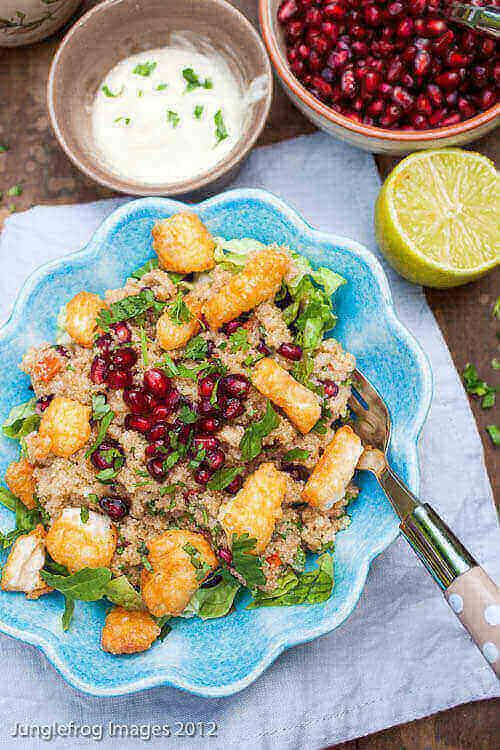 Amaranth salad with halloumi | insimoneskitchen.com