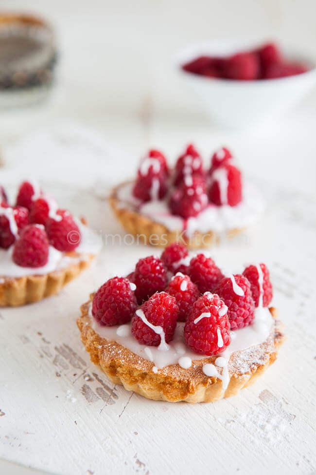 Lekker makkelijke frambozen taartjes