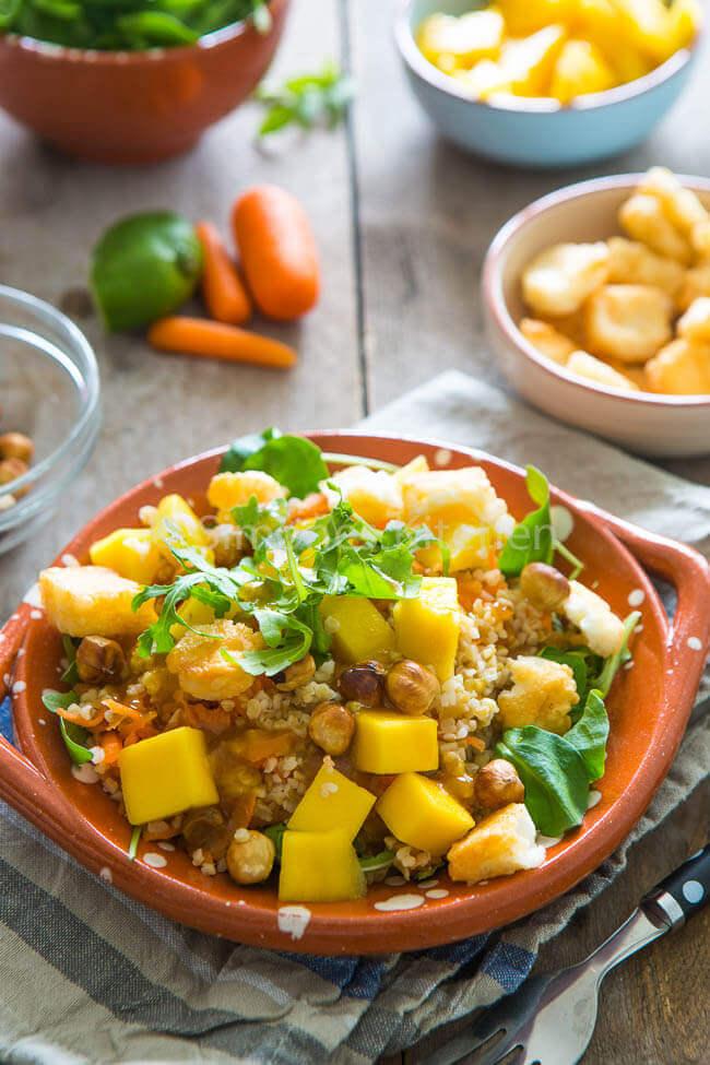 Bulgur mango salade met hazelnoten | simoneskitchen.nl