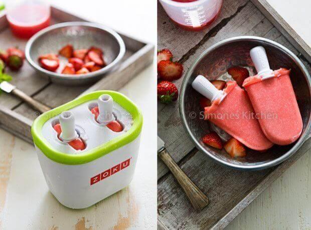 Aardbeien watermeloen ijsjes   simoneskitchen.nl