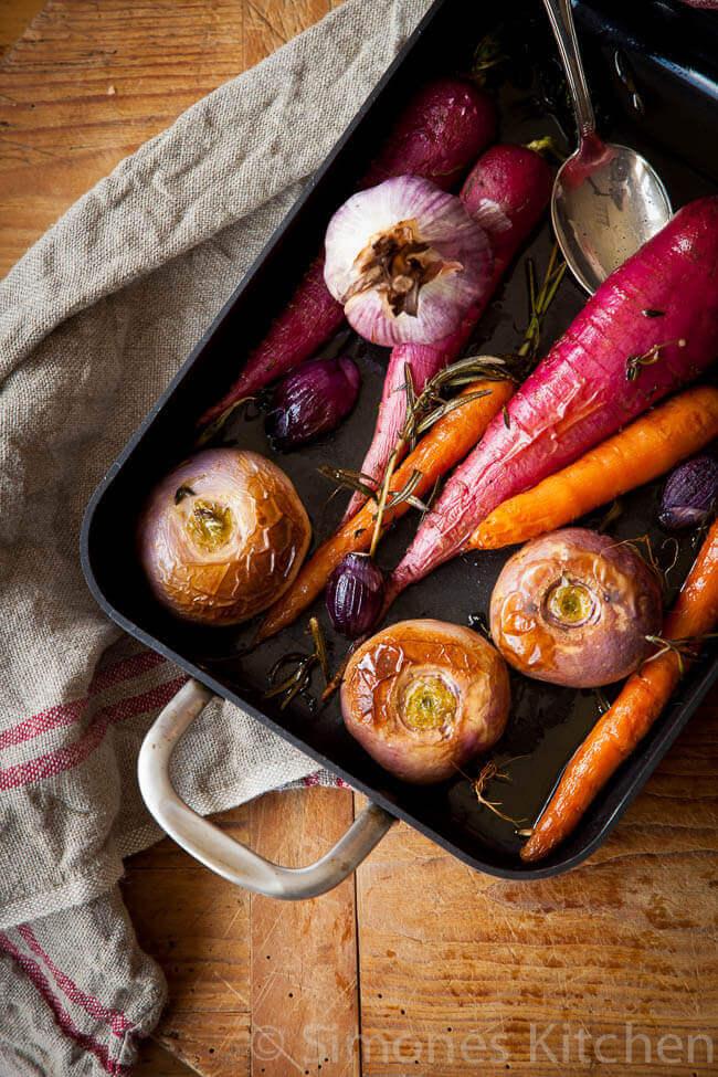 Geroosterde groentes voor bijgerecht kerst | simoneskitchen.nl