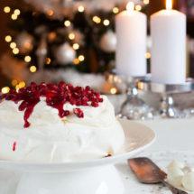 Cranberry pavlova voor kerst