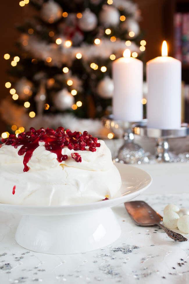 Cranberry pavlova voor kerst dessert | simoneskitchen.nl