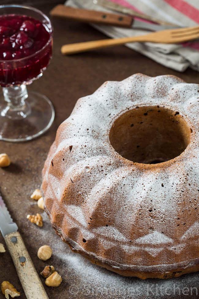 Kerst tulband met cranberries | simoneskitchen.nl