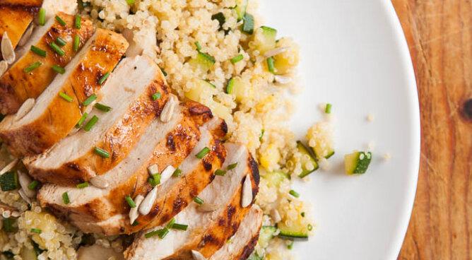 Harissakip met quinoa
