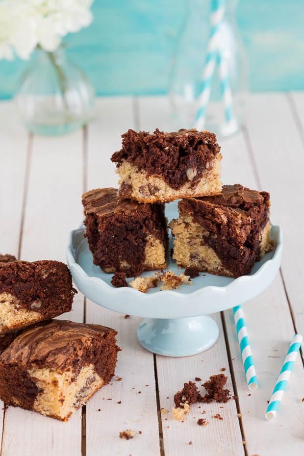 Vanille en chocolade brownies   simoneskitchen.nl