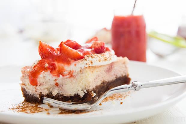 Aardbei limoen cheesecake | simoneskitchen.nl