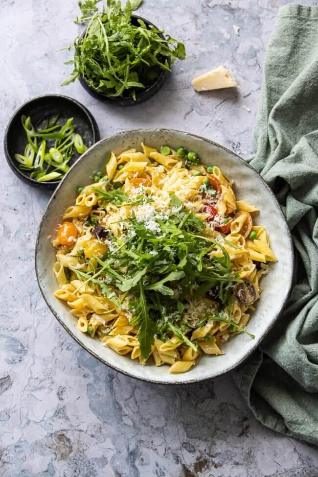 pastasalade met chorizo
