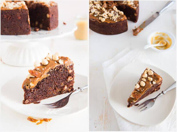 Dulce de leche taart met vijgen en hazelnoten | simoneskitchen.nl
