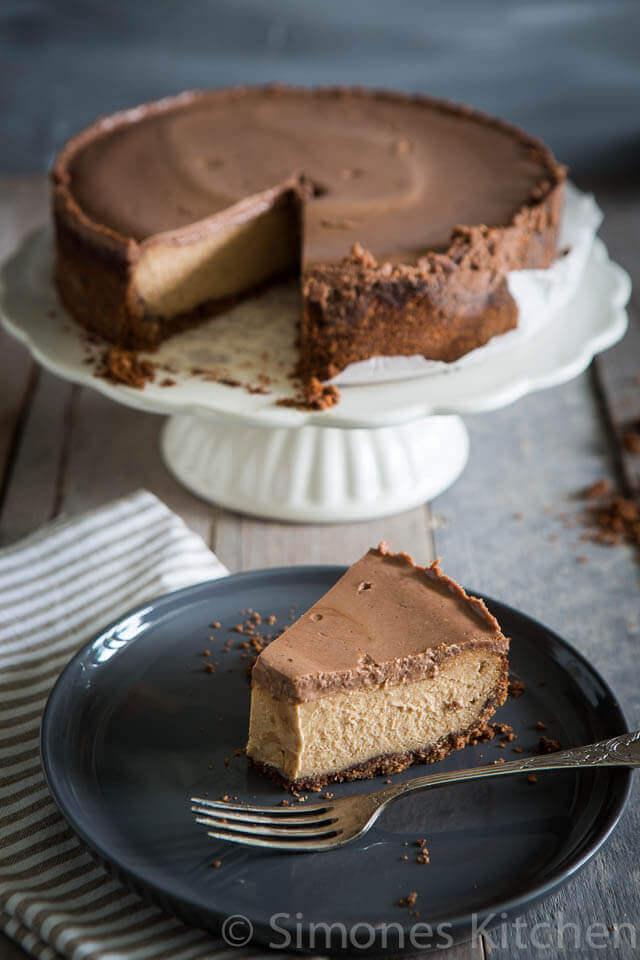 chocolade pindakaas cheesecake | simoneskitchen.nl