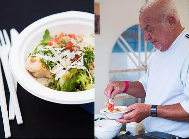 Caesar salade met roggebollen van Adelientje