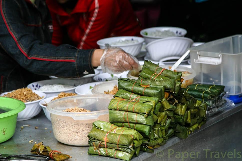 Making vietnamese rolls
