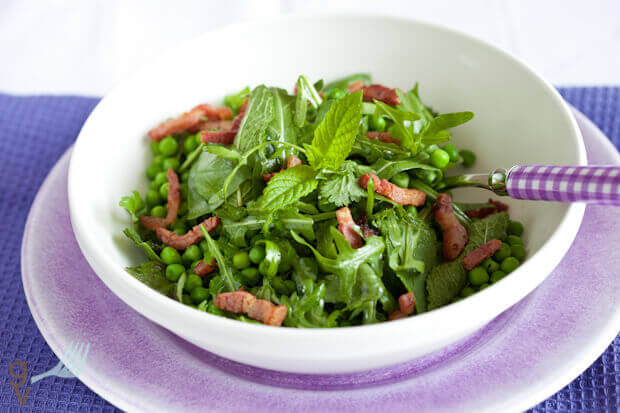 Green herbs and pea salad | insimoneskitchen.com