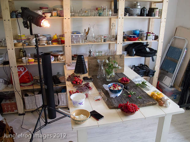 Kunstlicht setup voor food fotografie simoneskitchen.nl
