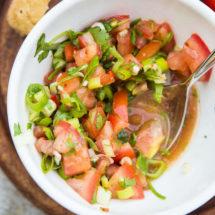 Tomaten salsa met lente ui | simoneskitchen.nl