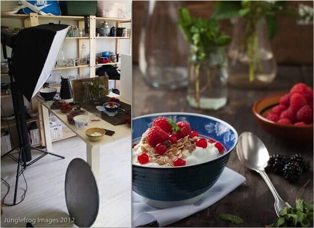 Kunstlicht food fotografie met softbox setup| simoneskitchen.nl