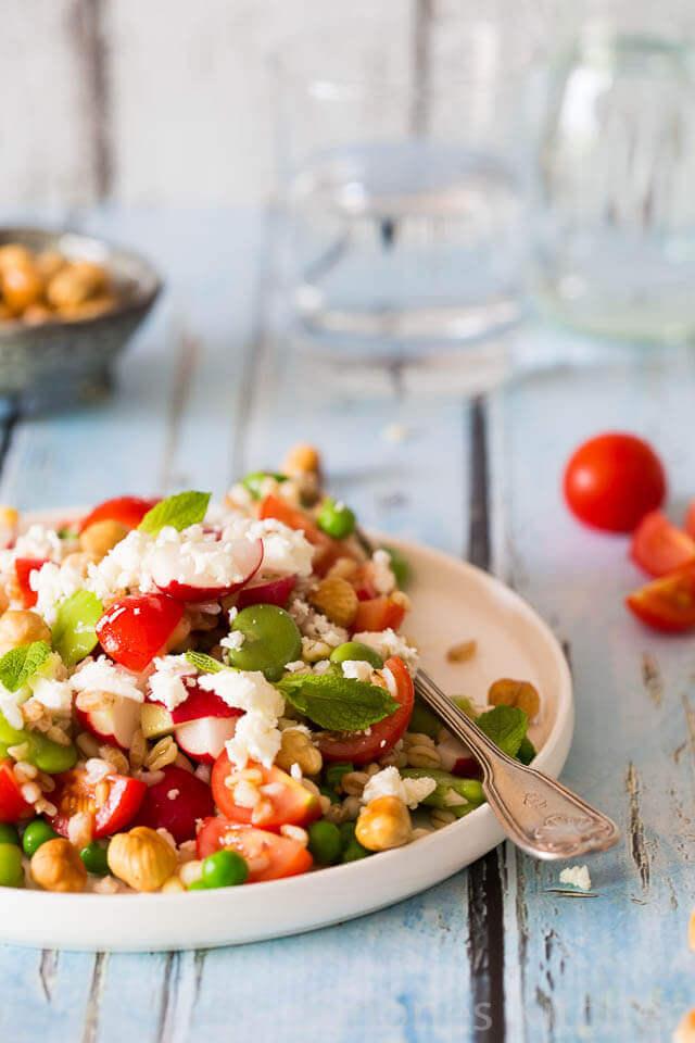 tuinboontjes salade met kerstomaatjes | simoneskitchen.nl