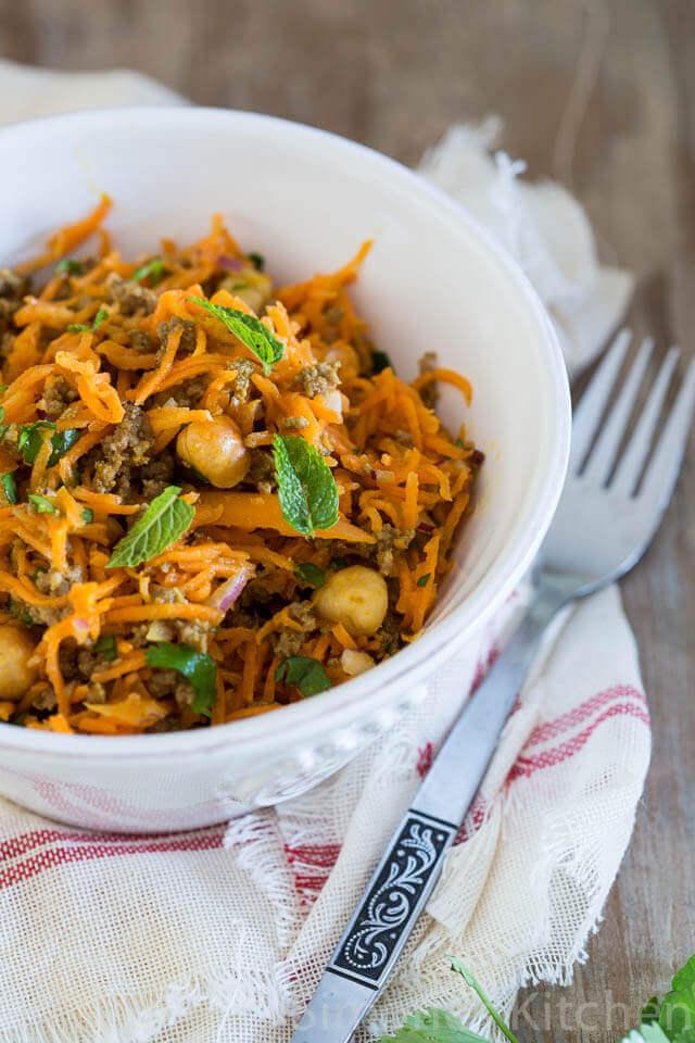 whole 30 wortel salade met hazelnoot | simoneskitchen.nl