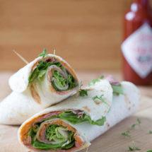 Roast beef with hummus wraps   insimoneskitchen.com