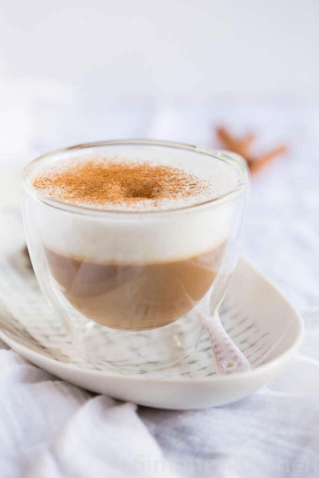 Cappuccino met gember en kaneel   simoneskitchen.nl